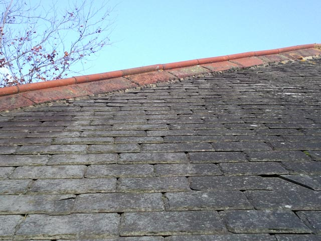 Renovation to Hip and Ridge Tiles on Roof Edge - Before